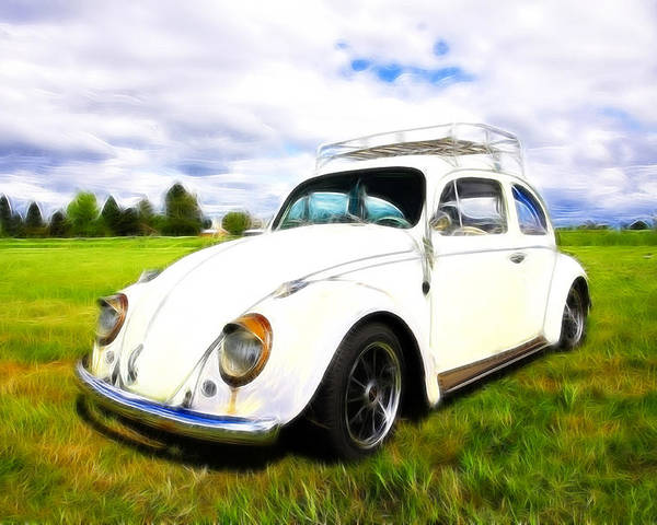 Vw Bug Poster featuring the photograph Field Bug by Steve McKinzie