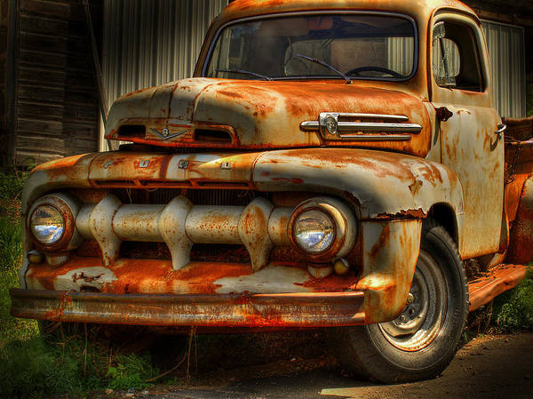 Fifty Two Ford Truck Poster featuring the photograph Fifty Two Ford by Thomas Young