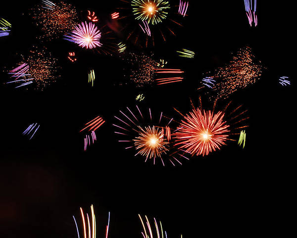 Fireworks Poster featuring the photograph Fill The Sky by Jim Martin