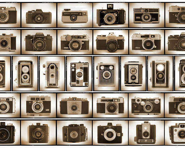 Vintage Cameras Poster featuring the photograph Film Camera Proofs by Mike McGlothlen