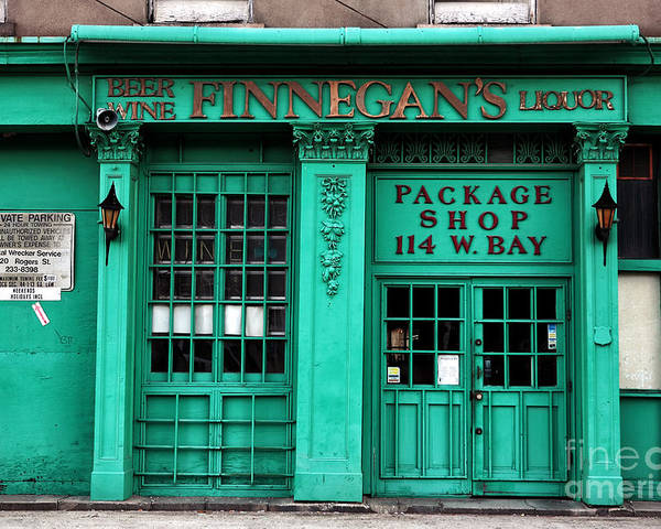 Finnegans Of Savannah Poster featuring the photograph Finnegans Of Savannah by John Rizzuto