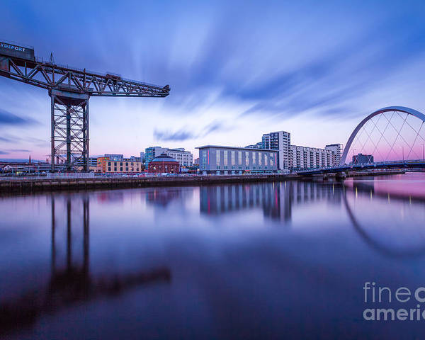 Glasgow Scene Poster featuring the photograph Finnieston Crane And Glasgow Arc by John Farnan