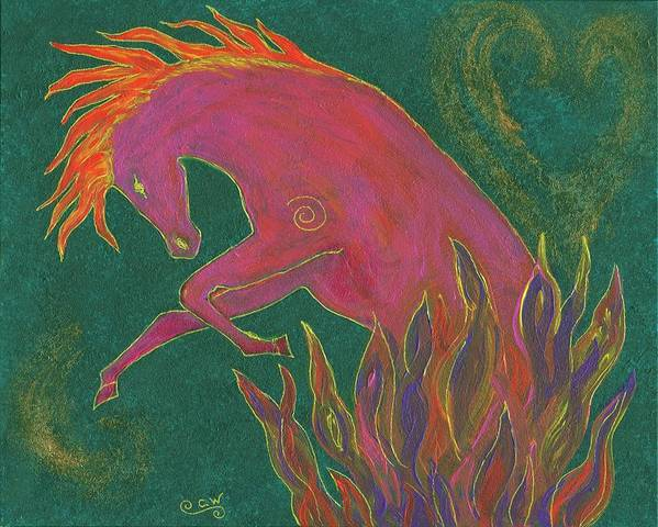 Horse Poster featuring the painting Fire Dancer by Carey Waters