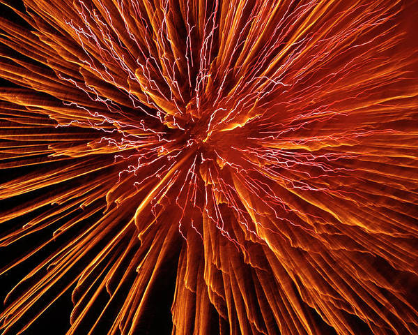 Fireworks Poster featuring the photograph Fire In The Sky by Carolyn Marshall