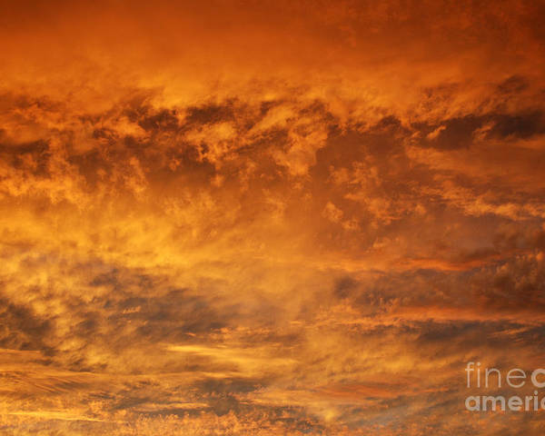 Clouds Poster featuring the photograph Fire Sky by Manda Renee