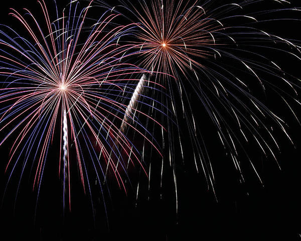 Fireworks Poster featuring the photograph Fireworks 4 by Andrew Nourse