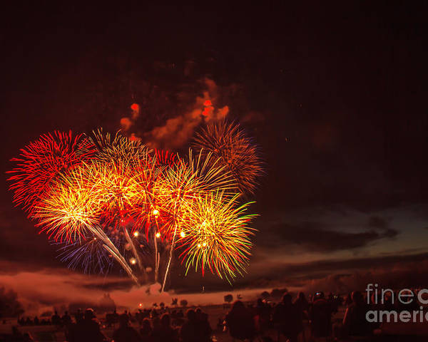Emmett Poster featuring the photograph Fireworks Finale by Robert Bales