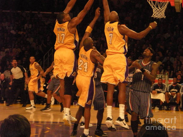 Lakers Poster featuring the photograph First Row by Jillyin Calhoun