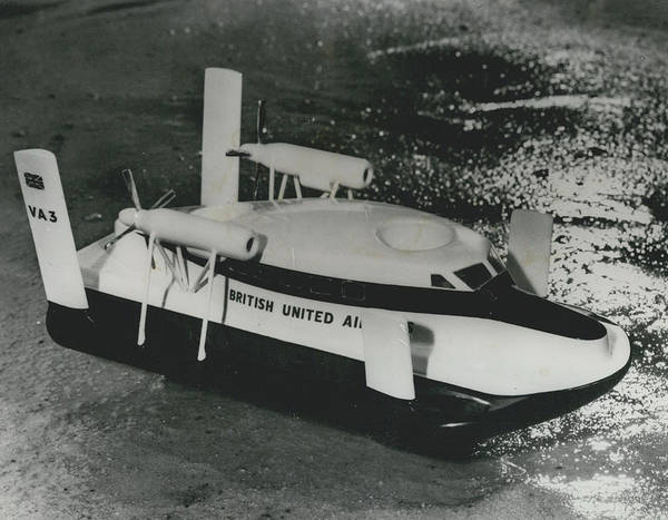 retro Images Archive Poster featuring the photograph First Scheduled Hovercraft Service Planned For July by Retro Images Archive