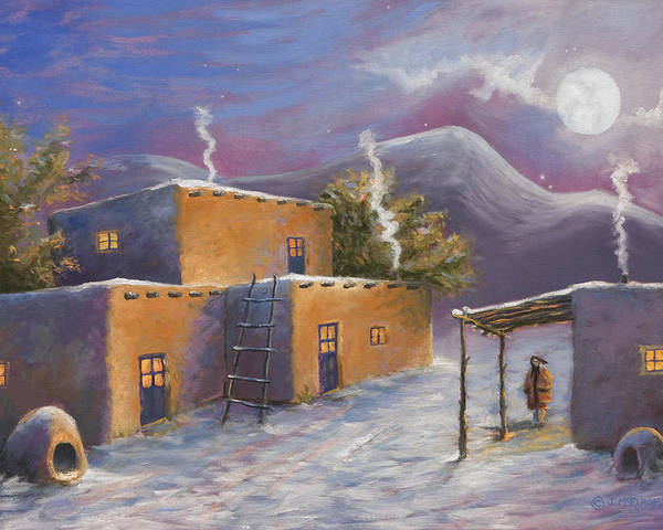 Snow Poster featuring the painting First Snow by Jerry McElroy