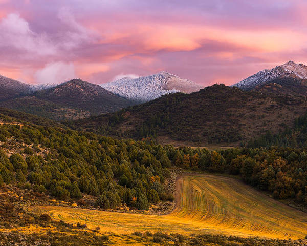 Fish Creek Pass Poster featuring the photograph Fish Creek Pass Sunset by Joseph Rossbach