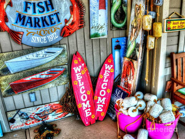Fish Market Poster featuring the photograph Fish Market by Debbi Granruth