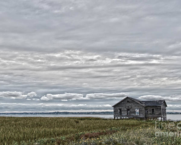 Clouds Poster featuring the photograph Fisherman Shack by Todor Tsvetkov