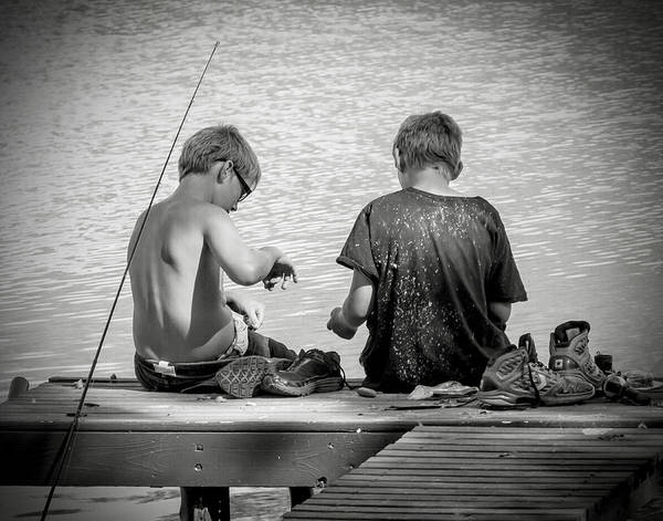 Active Poster featuring the photograph Fishin' by Sharon Meyer