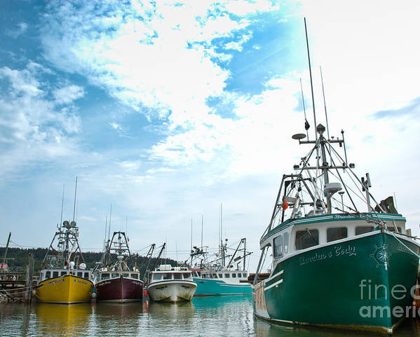 Poster featuring the photograph Fishing Boats by Cheryl Baxter