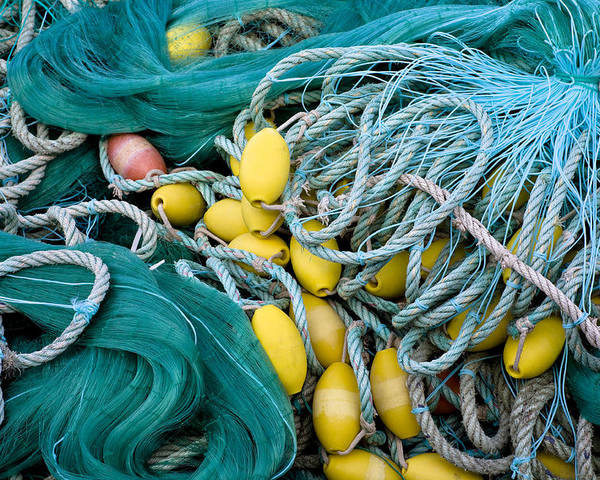 Fishnets Poster featuring the photograph Fishing Nets by Frank Tschakert