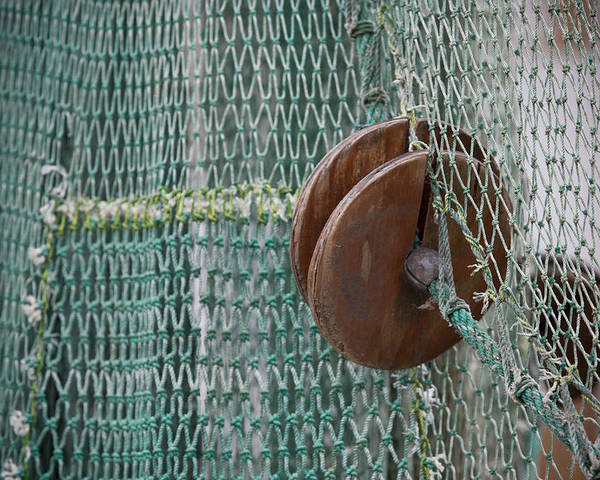 Seascape Poster featuring the photograph Fishing Nets by Paul Huchton