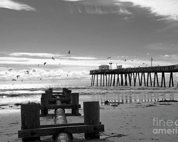 Landscape Poster featuring the photograph Fishing Pier by Mark Gold