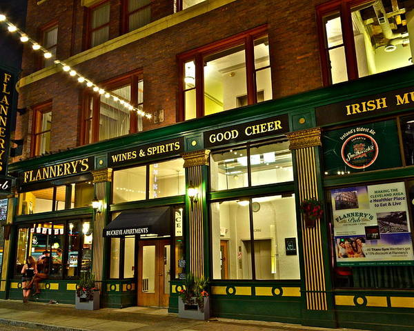 Spirits Poster featuring the photograph Flannerys Pub by Frozen in Time Fine Art Photography