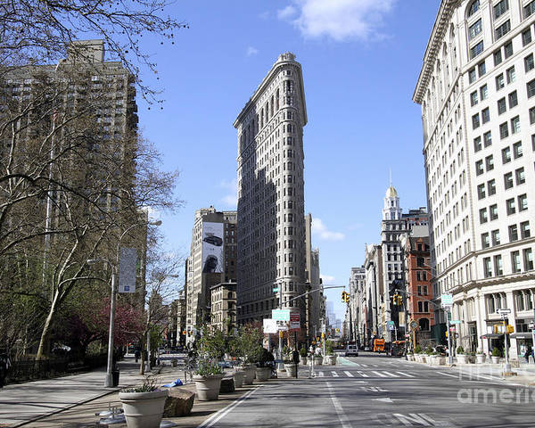 Flatiron Building Poster featuring the photograph Flat Iron Building-4 by Steven Spak