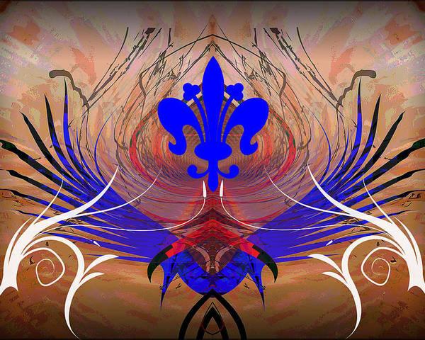 Fleur Poster featuring the digital art Fleur De Lis by Michael Damiani