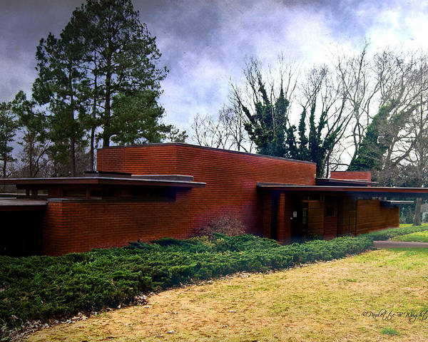 Featured Poster featuring the photograph Fllw Rosenbaum Usonian House - 1 by Paulette B Wright