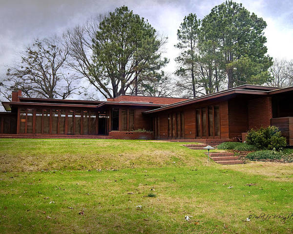 Featured Poster featuring the photograph Fllw Rosenbaum Usonian House - 4 by Paulette B Wright