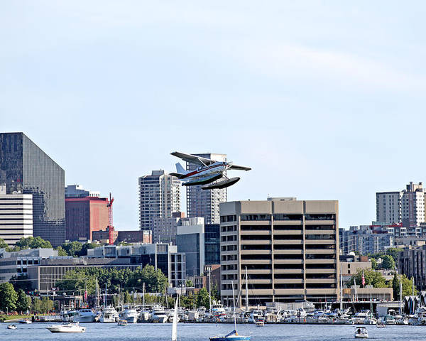 Seattle Poster featuring the photograph Float Plane by Paul Fell