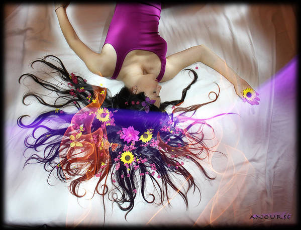 Long Exposure Poster featuring the photograph Flower Fire Dream by Andrew Nourse