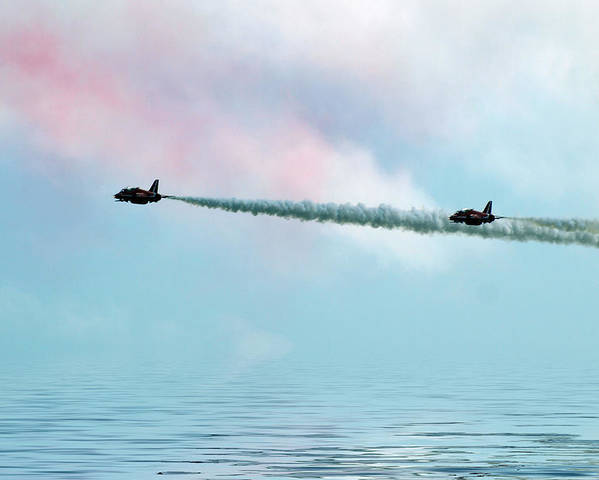 Red Arrow Prints Poster featuring the photograph Fly Over by Sharon Lisa Clarke