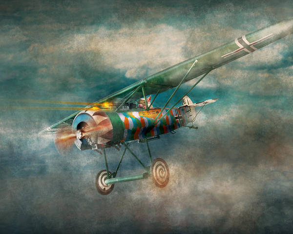 Wwi Poster featuring the digital art Flying Pig - Acts Of A Pig by Mike Savad