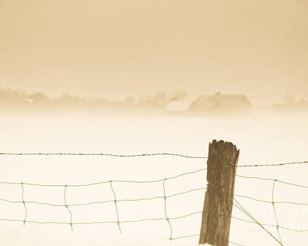 Landscapes Poster featuring the photograph Fog Of Yesteryear by Cheryl Baxter