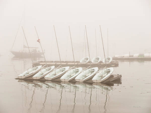 Seascape Poster featuring the photograph Fogged In Again by Bob Orsillo