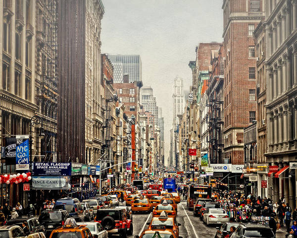 Nyc Poster featuring the photograph Foggy Day In The City by Kathy Jennings