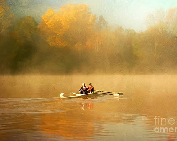 Activity Poster featuring the photograph Foggy Morning On The Chattahoochee by Darren Fisher