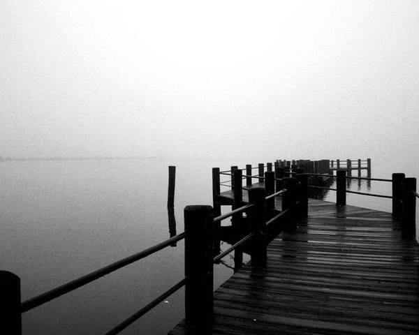 Foggy Pier Poster featuring the photograph Foggy Pier by Frederick Redelius