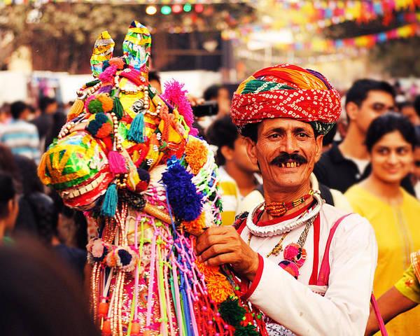Folk Poster featuring the photograph Folk Dancer by Money Sharma