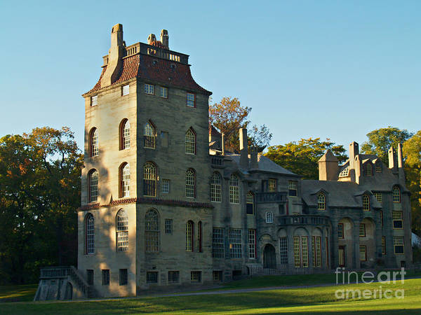 Fonthill Poster featuring the photograph Fonthill Castle In September - Doylestown by Anna Lisa Yoder