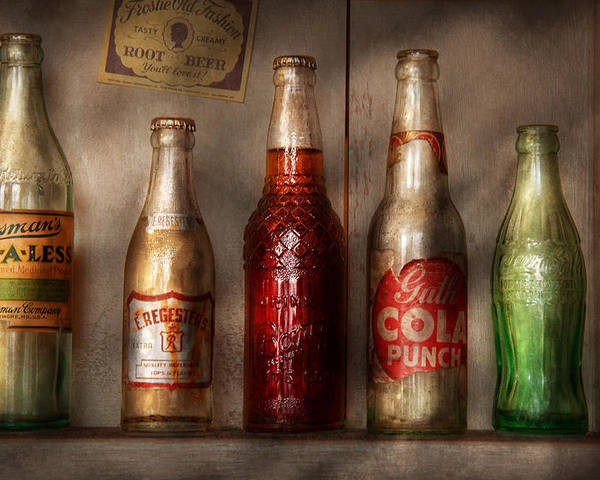 Soda Poster featuring the photograph Food - Beverage - Favorite Soda by Mike Savad