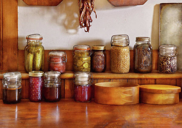 Preserves Poster featuring the photograph Food - I Love Preserving Things by Mike Savad