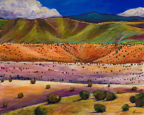 New Mexico Poster featuring the painting Foothill Approach by Johnathan Harris