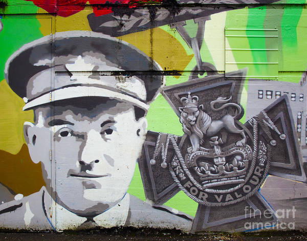 Mural Poster featuring the photograph For Valour by Chris Dutton
