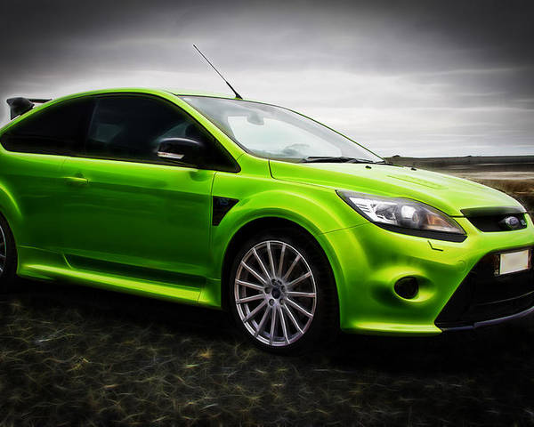 Ford Rs Poster featuring the photograph Ford Focus Rs by motography aka Phil Clark