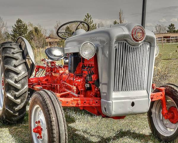1956 Ford Tractor Poster featuring the photograph Ford Tractor by Peter SPAGNUOLO