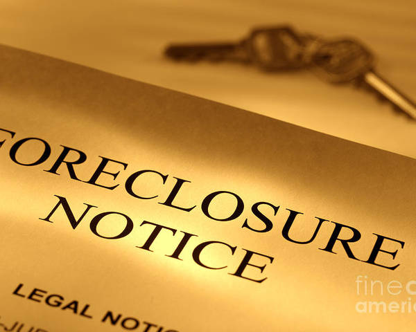 Foreclosure Poster featuring the photograph Foreclosure Notice by Olivier Le Queinec