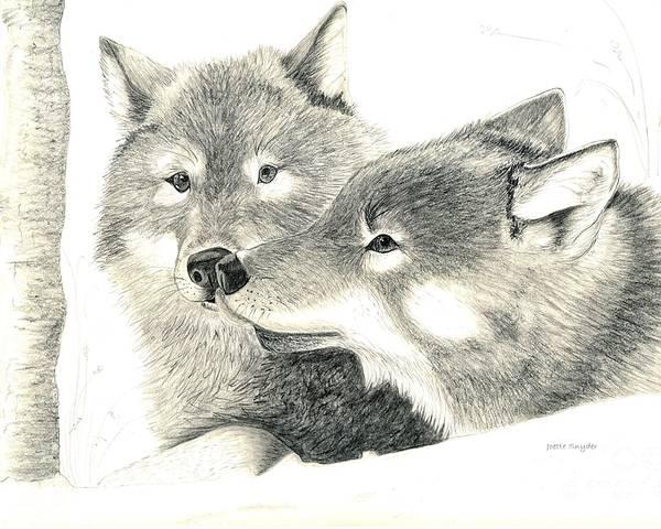 Drawings Of Wolves In Love
