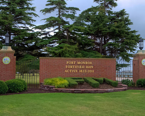 Fort Monroe Poster featuring the photograph Fort Monroe Main Gate by Jerry Gammon