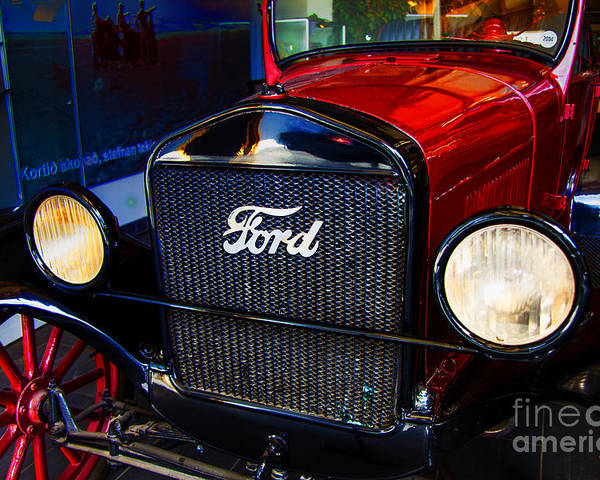 Ford Motel T Icleand Poster featuring the photograph Forvorite Model T by Rick Bragan
