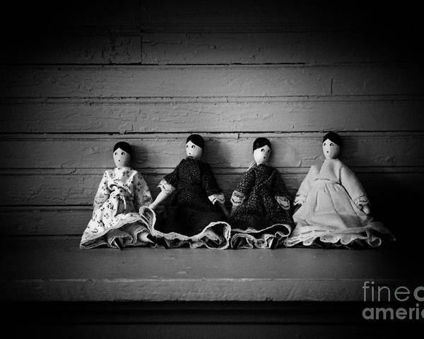 Antique Poster featuring the photograph Four Dollies by Valerie Johnson
