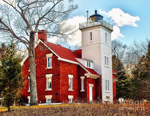 Lighthouse Poster featuring the photograph Fourty Mile Point Lighthouse by Nick Zelinsky